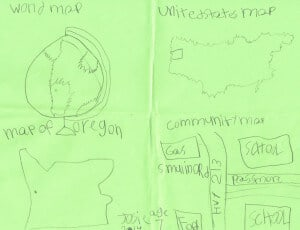 Mapping examples by my 1st Grader